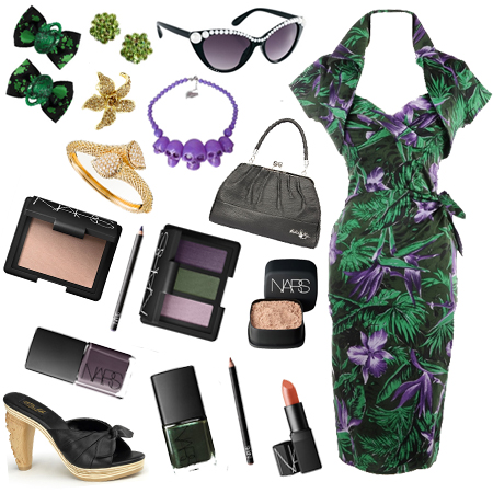 deadly_dames_malibu_tiki_dress_green_and_lavender