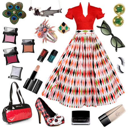 pinup_couture_harlequin_print_skirt