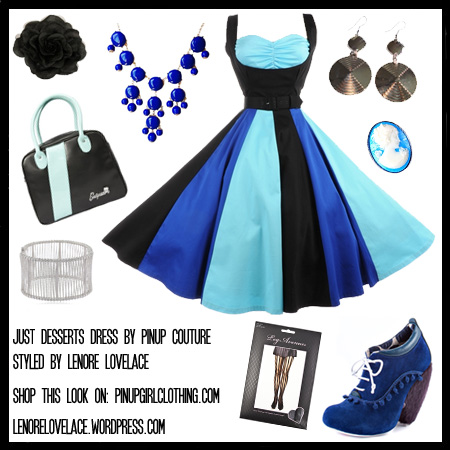 pinup-couture-just-desserts-dress-black-and-blue