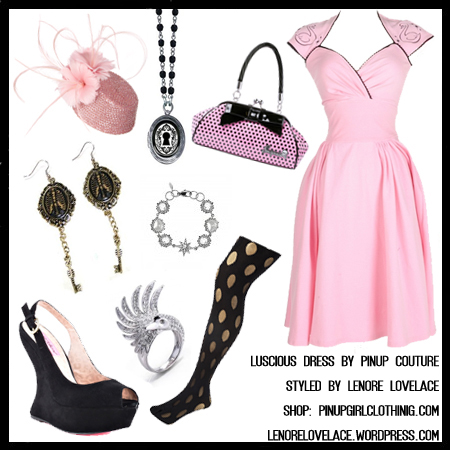 pinup-couture-luscious-dress-pink-and-black-swan